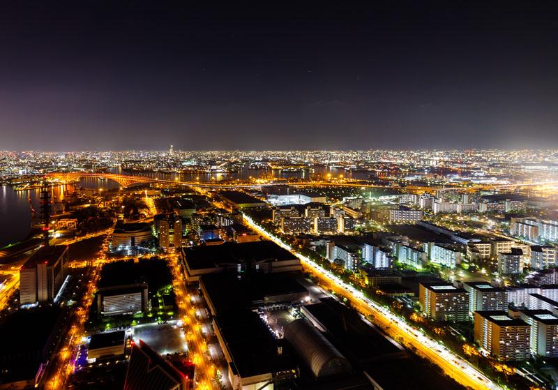 さきしまコスモタワー展望台の夜景