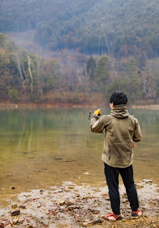 沢ノ池で釣り
