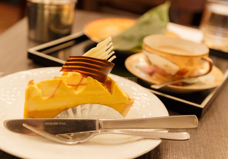 前田珈琲文博店のかぼちゃとクリームチーズのタルト