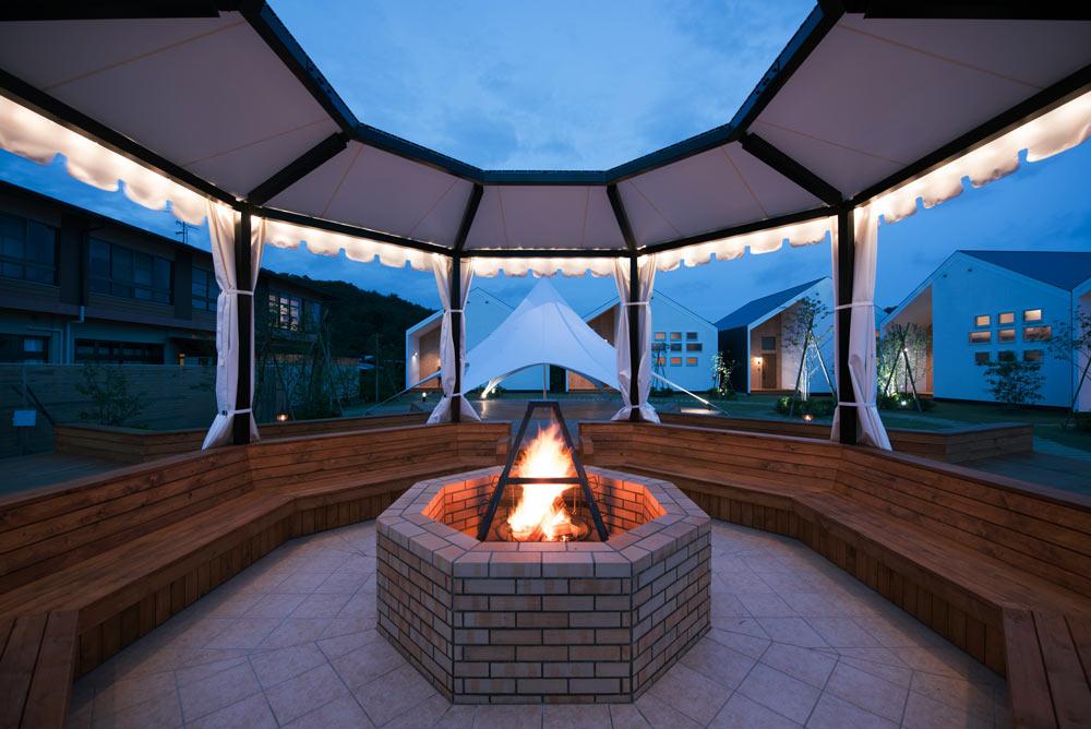 るり渓温泉GRAX-HANAREのキャンプファイヤー