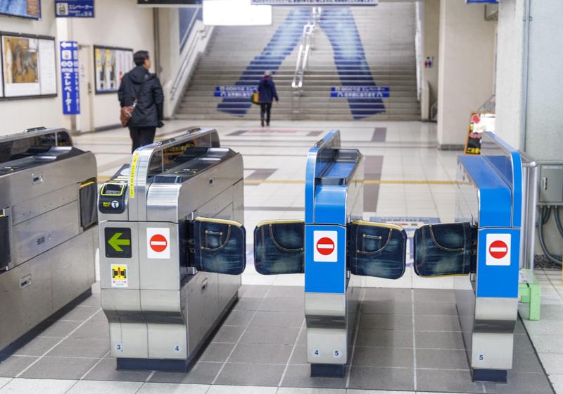 児島駅の改札