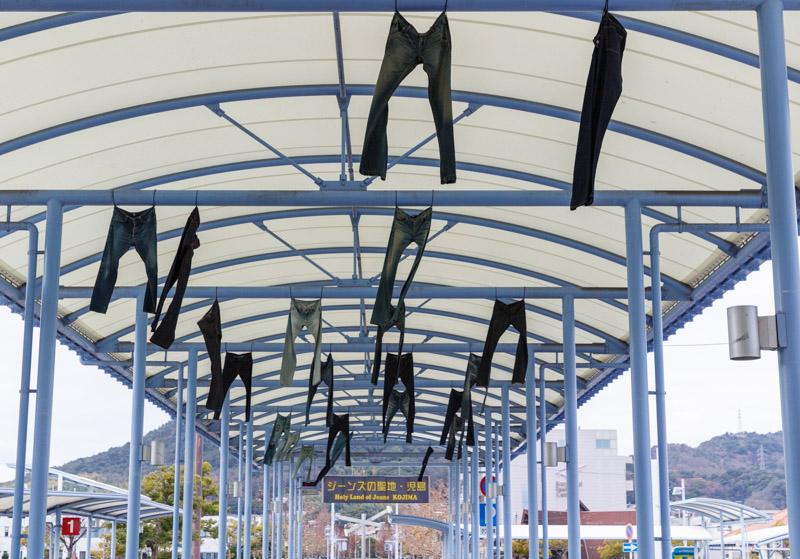 児島駅の外の天井