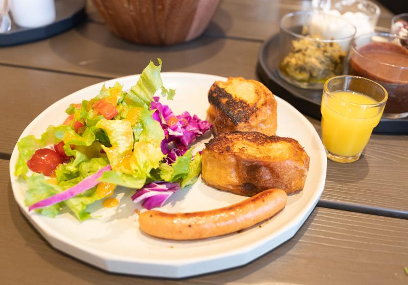 るり渓温泉GRAX-HANAREの朝食