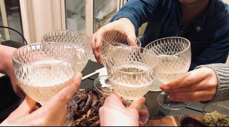 るり渓温泉GRAX-HANAREで乾杯