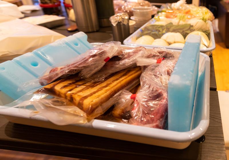 るり渓温泉のGRAX-HANAREの夕食の肉