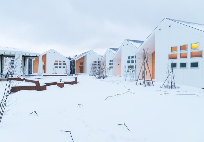 るり渓温泉grax-hanareの雪景色