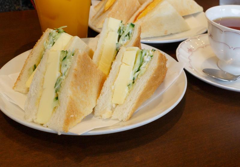 喫茶アマゾンのチーズサンドトースト