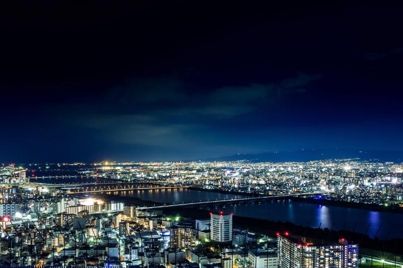 空中庭園展望台の夜景