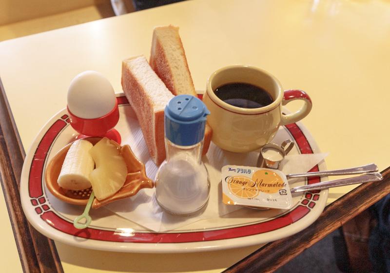 喫茶サンレモンのモーニング