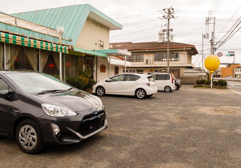 喫茶サンレモンの駐車場