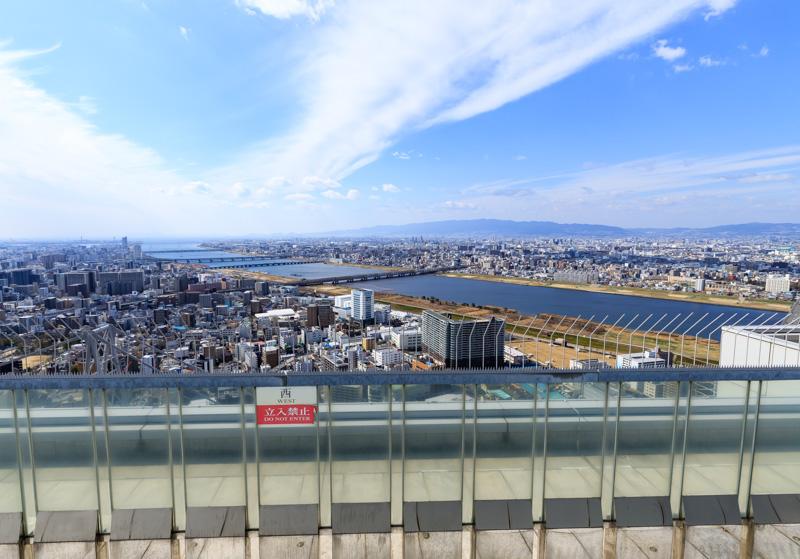 空中庭園展望台からの西の景色