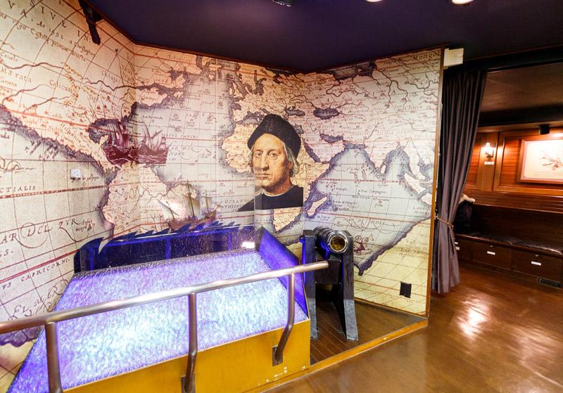 天保山の船サンタマリア号のコロンブスの部屋