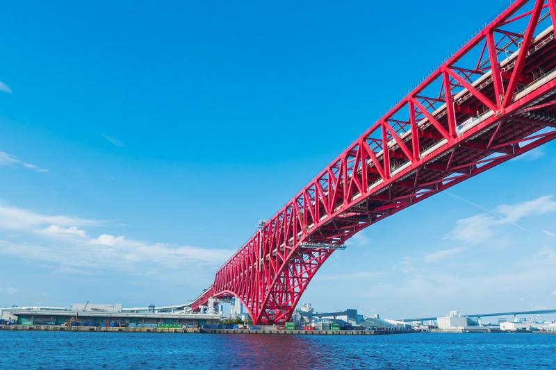 サンタマリア号から見える港大橋