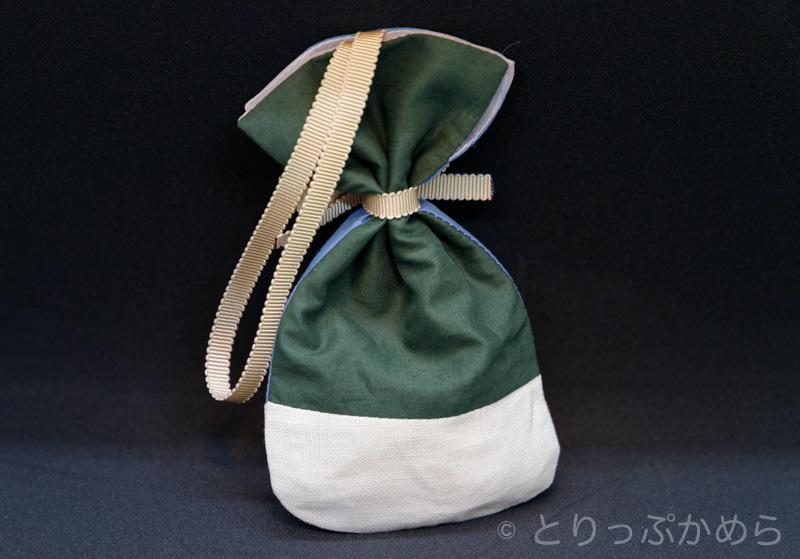 リスン京都で購入した巾着型のサシェ裏面