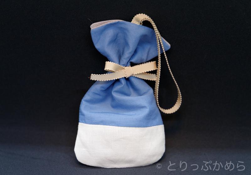 リスン京都で購入した巾着型のサシェ表面