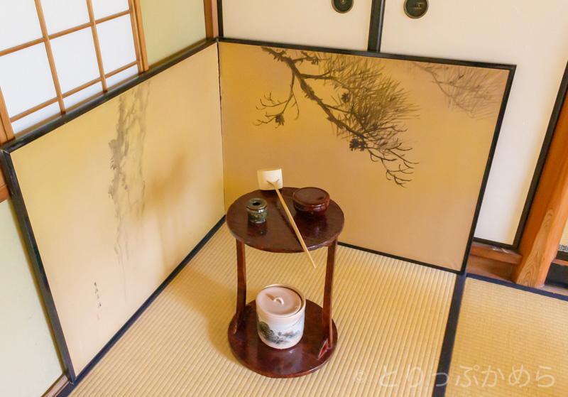 竹情荘の茶道道具