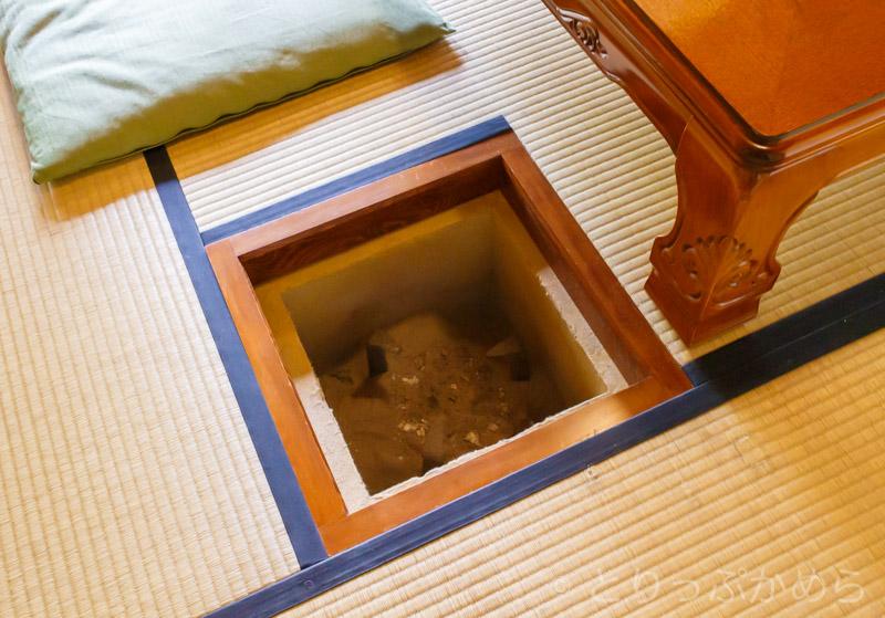 竹情荘の炉