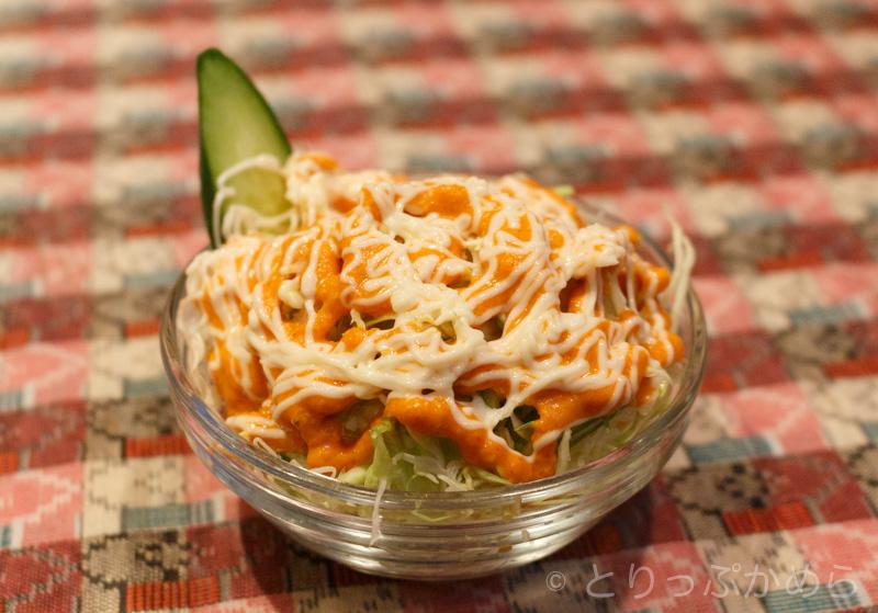 カトマンドゥダイニングアンドバーのサラダ