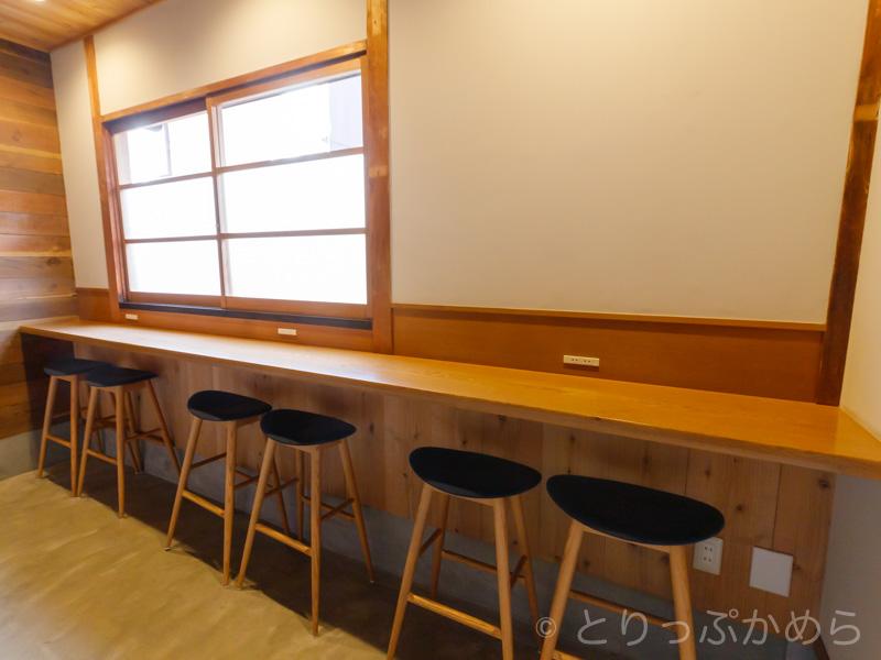 ノットカフェのカウンター席