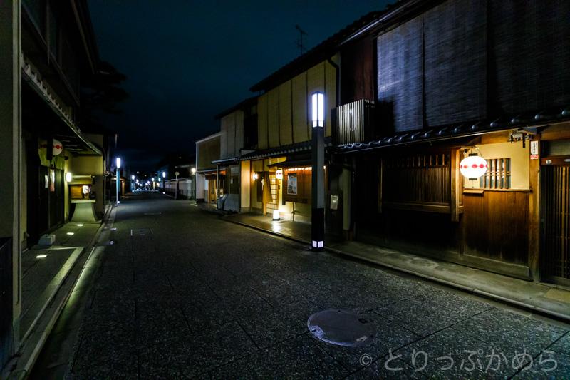 夜のモゼイク町家2