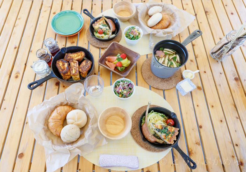グランエレメントの洋食の朝食