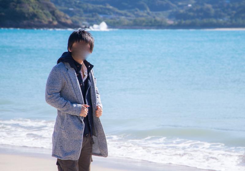 人津久の浜で記念撮影