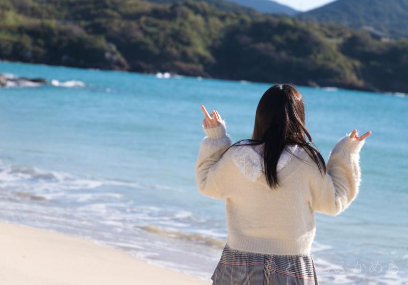 人津久の浜で記念撮影2