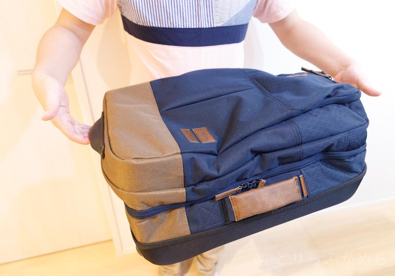 リップカールのキャリーバッグの持ち方3