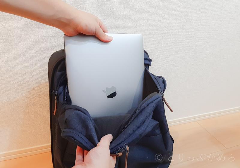 リップカールのキャリーバッグのパソコン収納