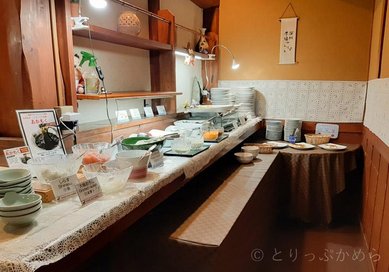 アジール奈良の朝食ビュッフェ