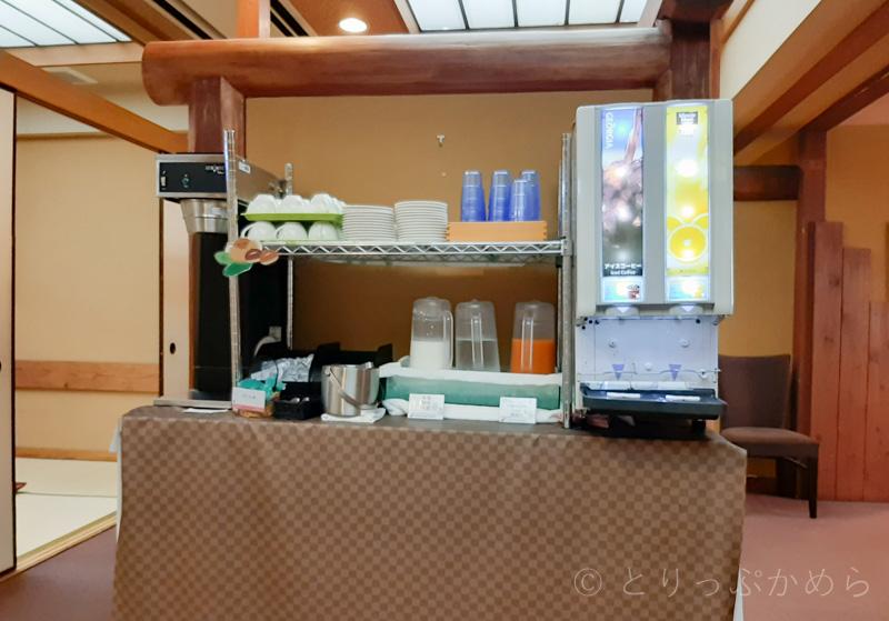 アジール奈良の朝食のドリンクバー
