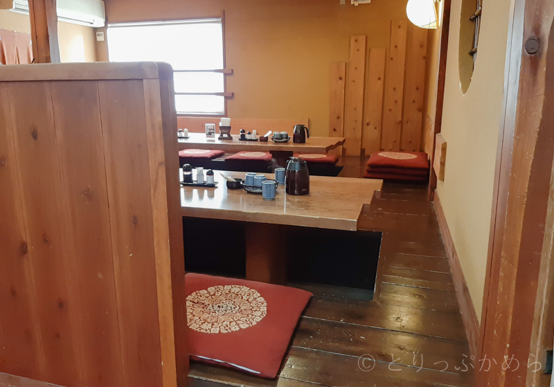 アジール奈良の朝食の掘りごたつ席