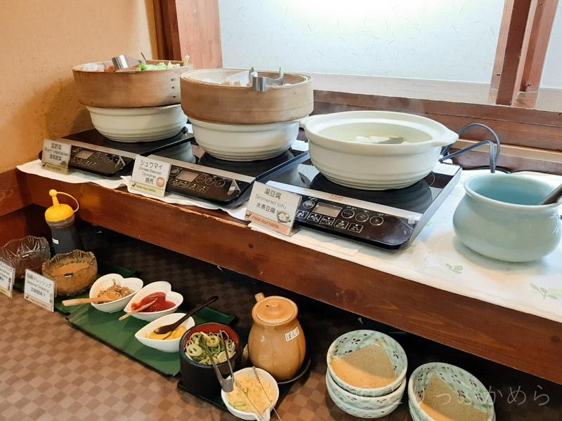 アジール奈良の朝食の中華