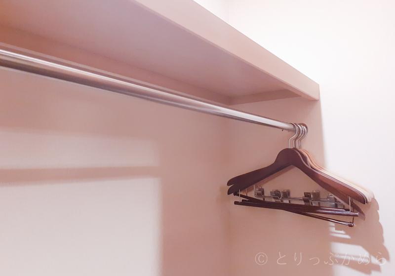 アジール奈良の部屋のクローゼット