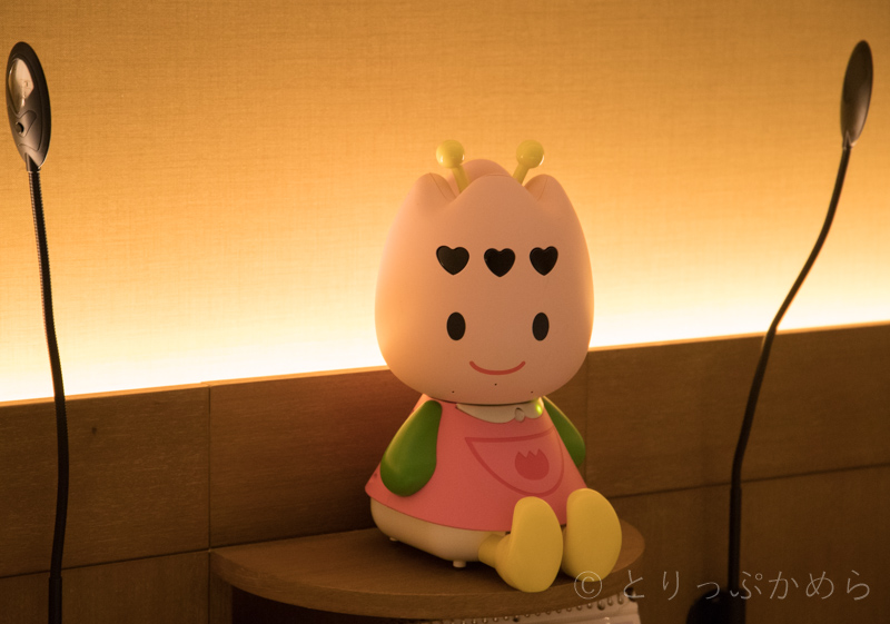 ハウステンボスの変なホテルのチューリーロボット