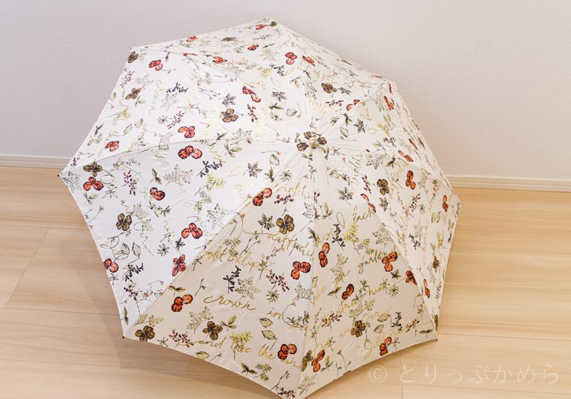 ジルスチュアートのオーロラのボタニカル柄の傘