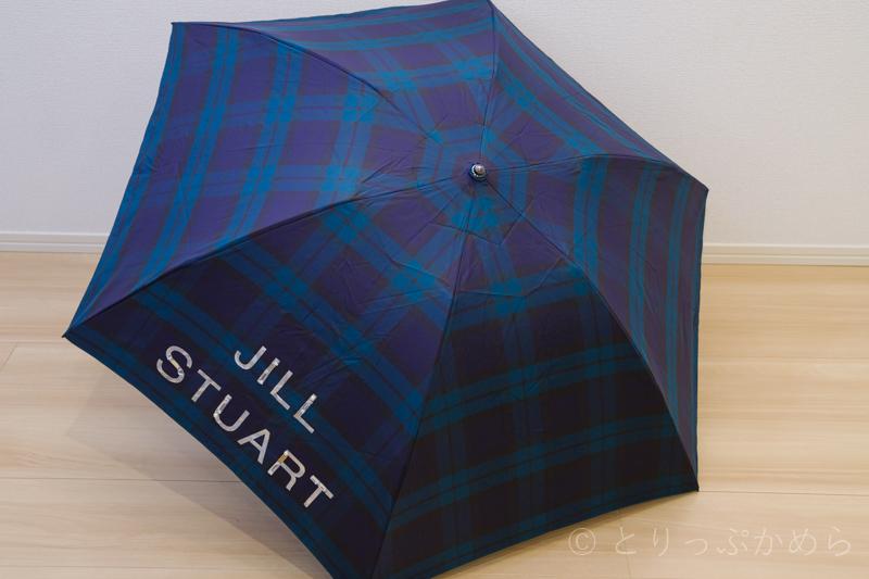 ジルスチュアートのオーロラのチェック柄の傘