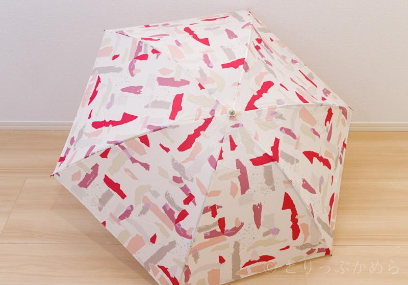 ジルスチュアートのオーロラのおりがみ幾何柄の傘