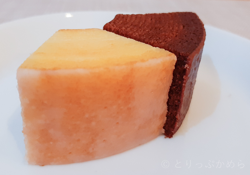 生バウムはプレーンとショコラでサイズ違う