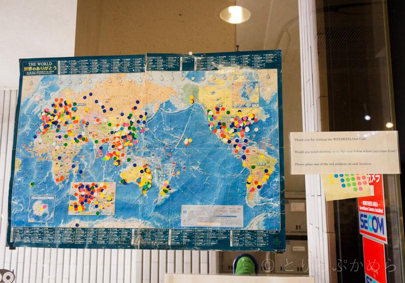 奈良のフクロウカフェわたわたは世界中から訪問者あり