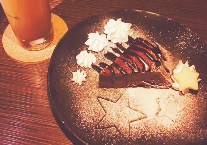 星カフェスピカのガトーショコラ