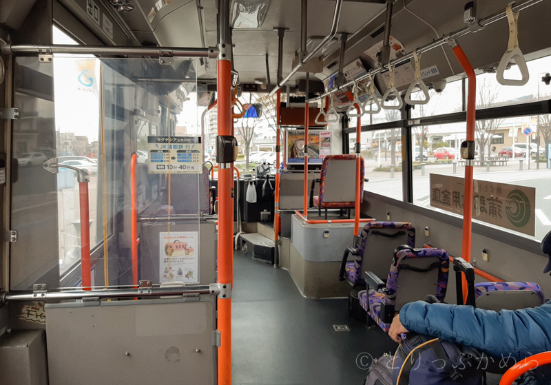 ラグーナテンボスの無料シャトルバスの中