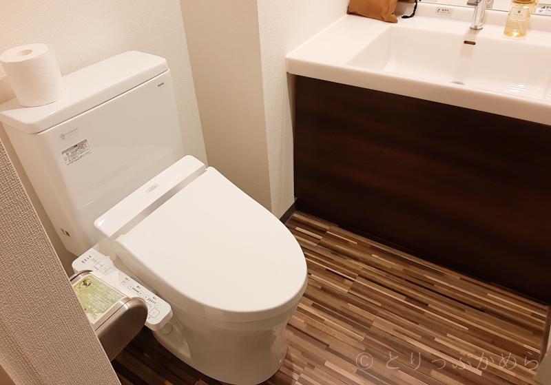 変なホテルラグーナテンボスのお部屋のトイレ