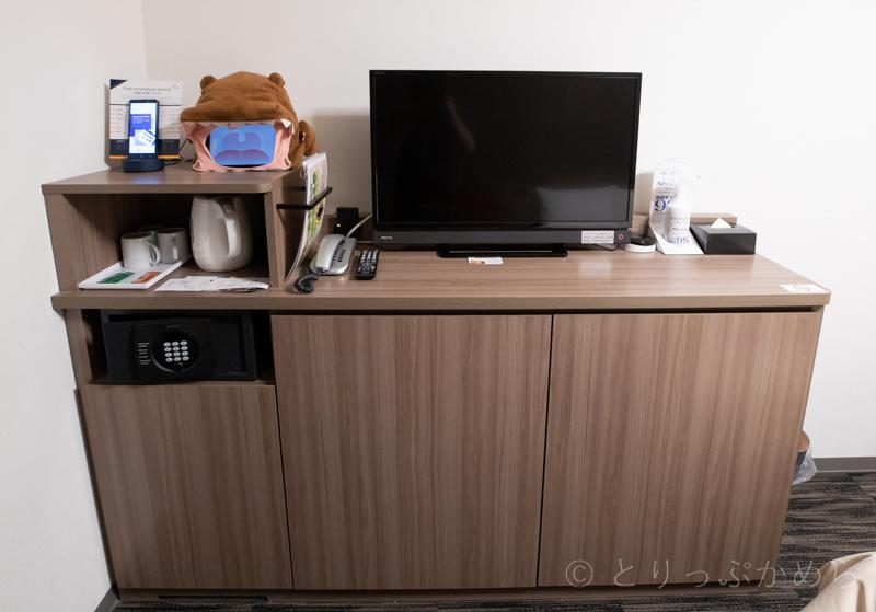 変なホテルラグーナテンボスのお部屋の棚
