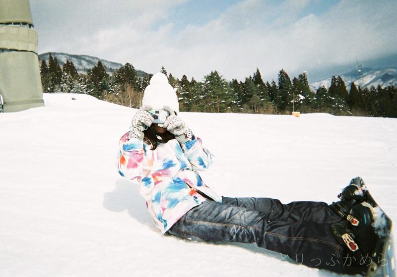 スノーボードで写るんです