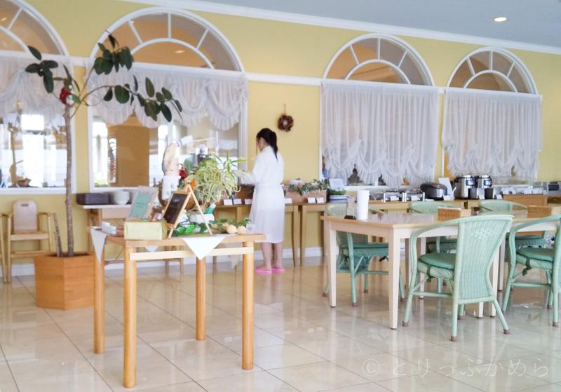 タラソカフェはバスローブで利用できる