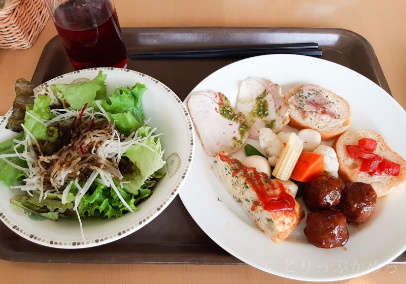 タラソカフェでゆっけが食べたビュッフェ