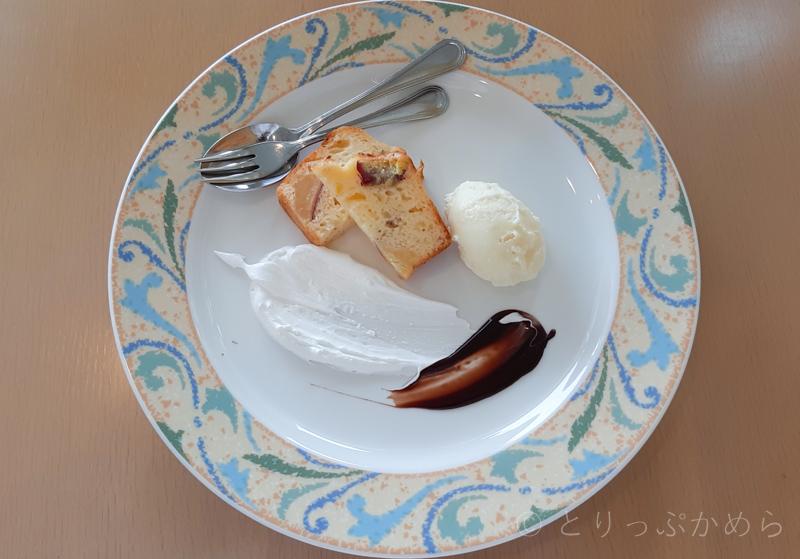 タラソカフェのデザート