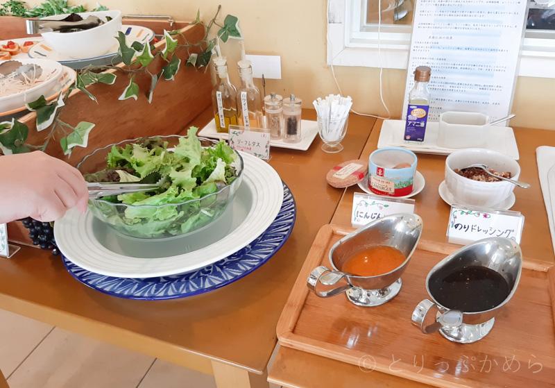 タラソカフェのサラダ